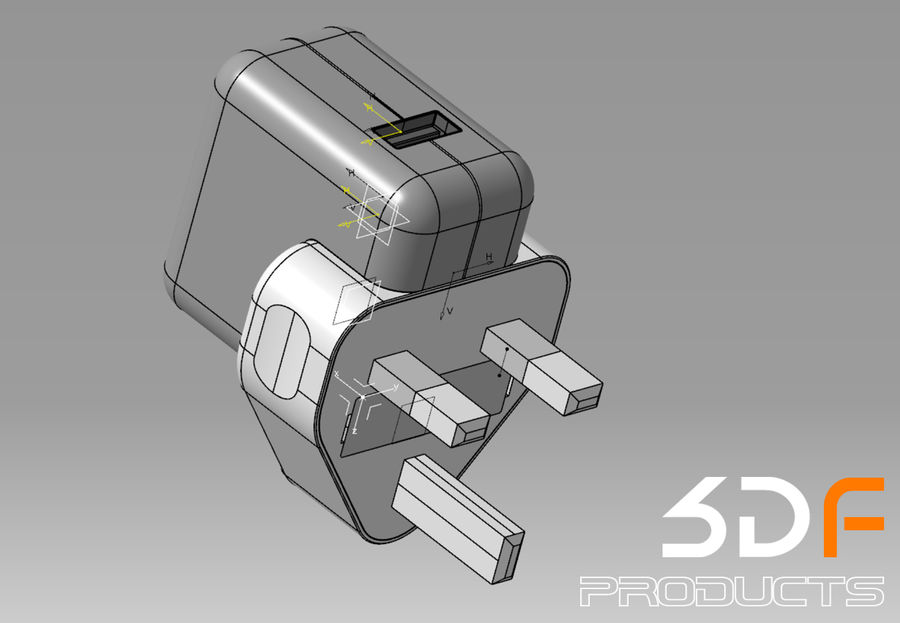 Phone Adaptor royalty-free 3d model - Preview no. 5