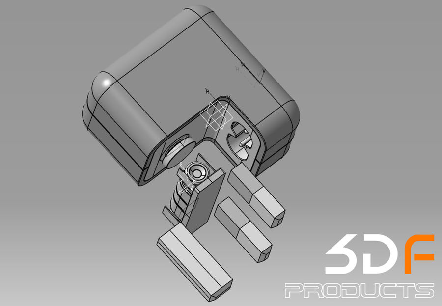 Phone Adaptor royalty-free 3d model - Preview no. 6