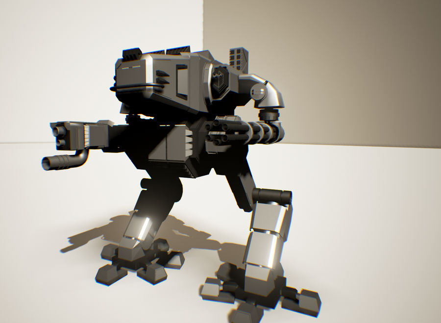 Robot Mech Machine royalty-free 3d model - Preview no. 8