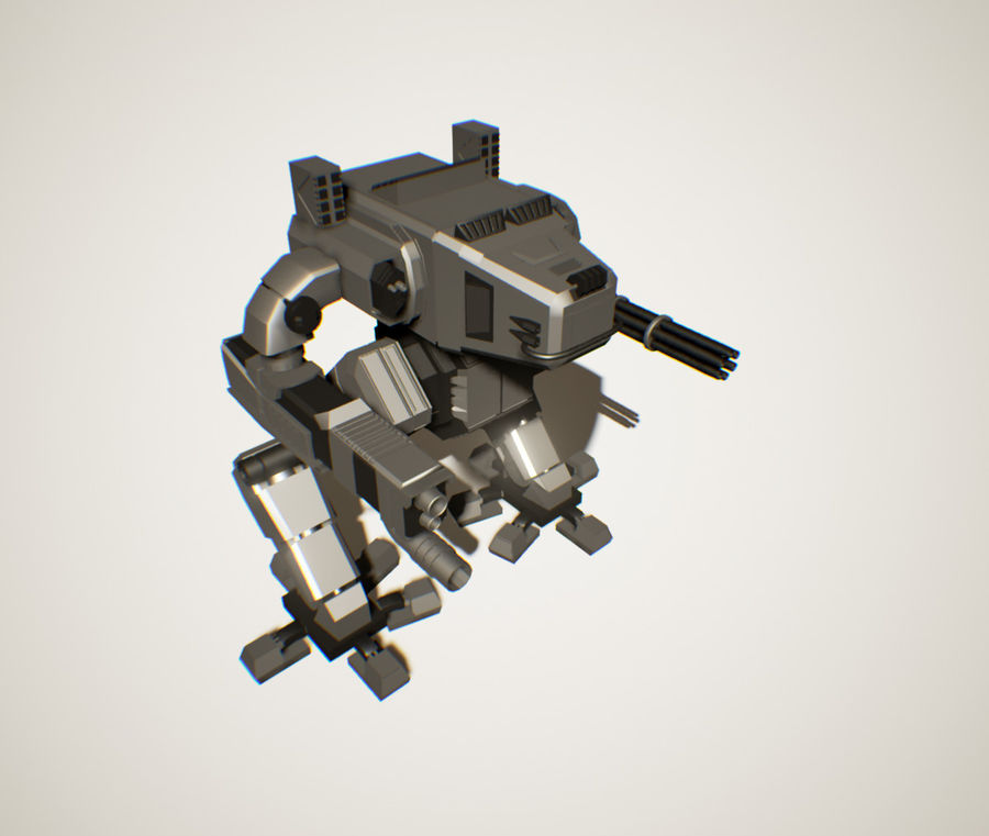 Robot Mech Machine royalty-free 3d model - Preview no. 2