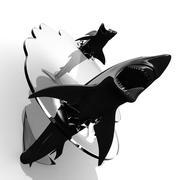 Shark Glass Table 3d model