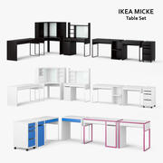 Ikea Micke Table Set 3d model