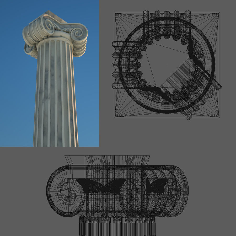 Greek Column Collection royalty-free 3d model - Preview no. 5