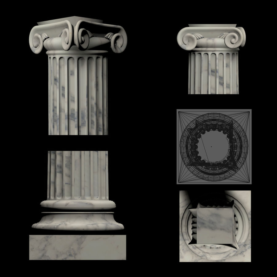 Greek Column Collection royalty-free 3d model - Preview no. 9