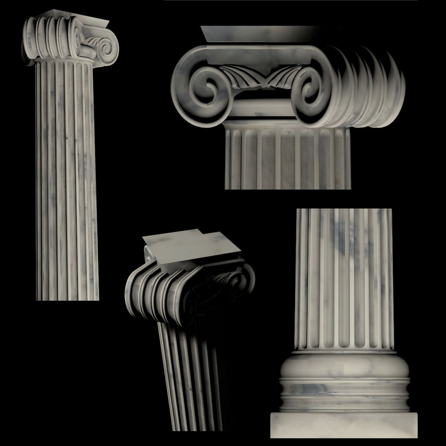Greek Column Collection royalty-free 3d model - Preview no. 6