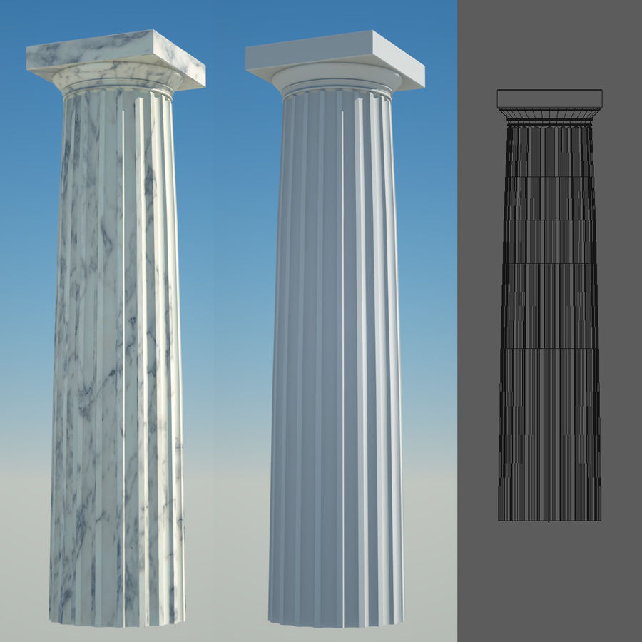 Greek Column Collection royalty-free 3d model - Preview no. 11