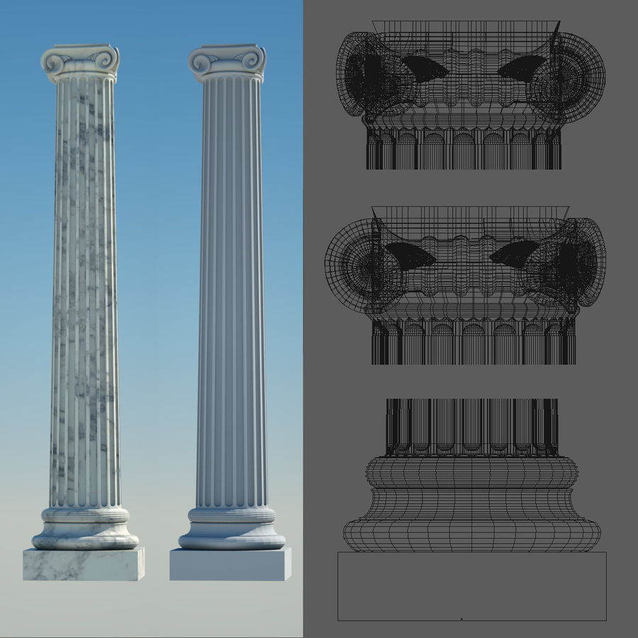 Greek Column Collection royalty-free 3d model - Preview no. 8