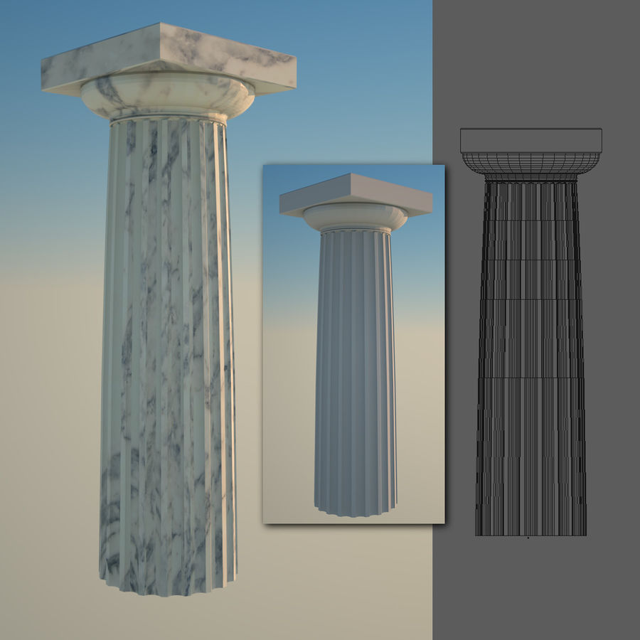 Greek Column Collection royalty-free 3d model - Preview no. 10