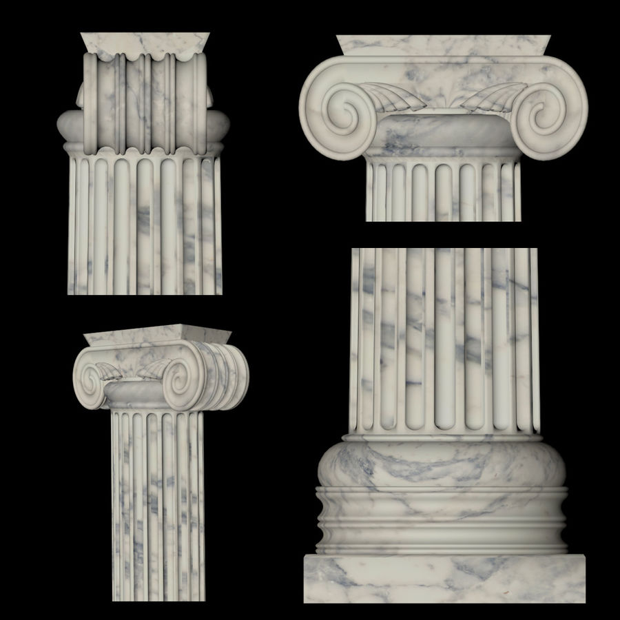 Greek Column Collection royalty-free 3d model - Preview no. 3