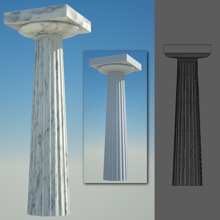 Greek Column Collection royalty-free 3d model - Preview no. 12