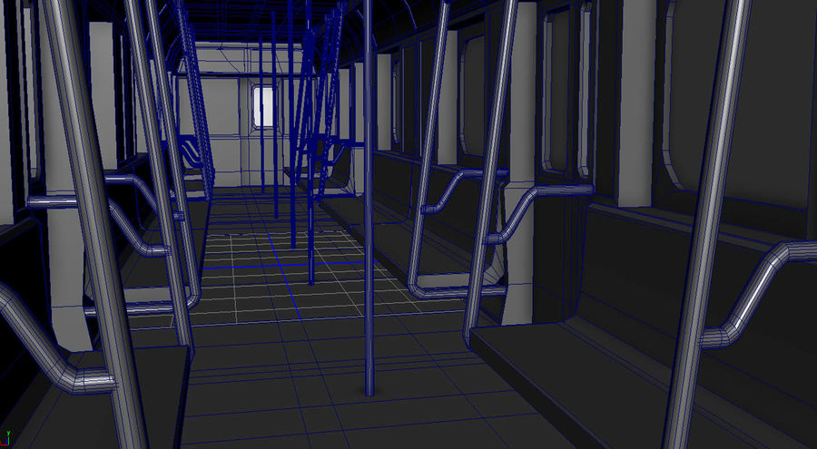 Intérieur du métro royalty-free 3d model - Preview no. 7
