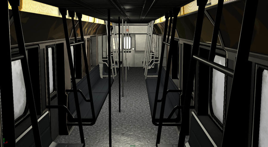 Intérieur du métro royalty-free 3d model - Preview no. 8