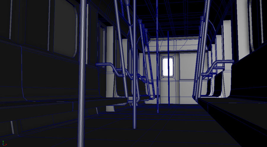 Intérieur du métro royalty-free 3d model - Preview no. 6