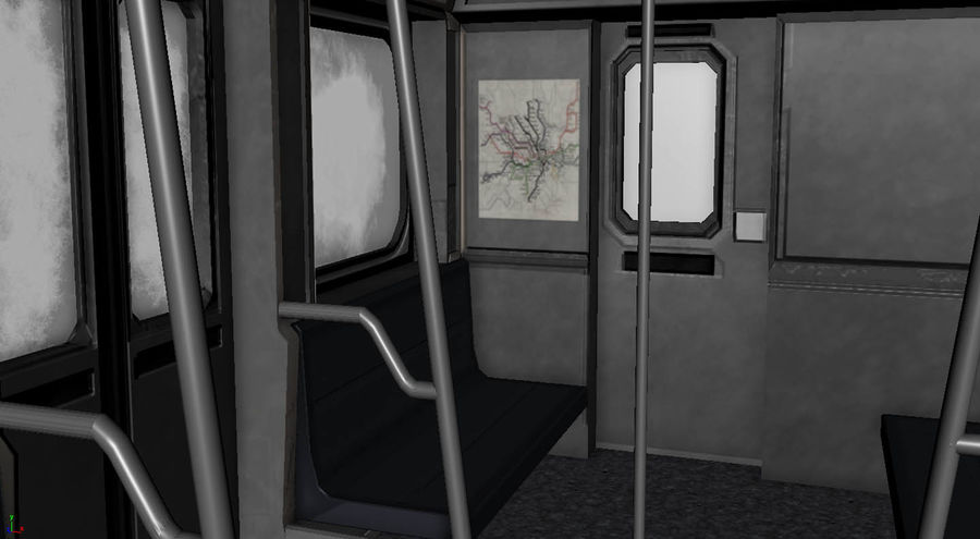 Intérieur du métro royalty-free 3d model - Preview no. 5