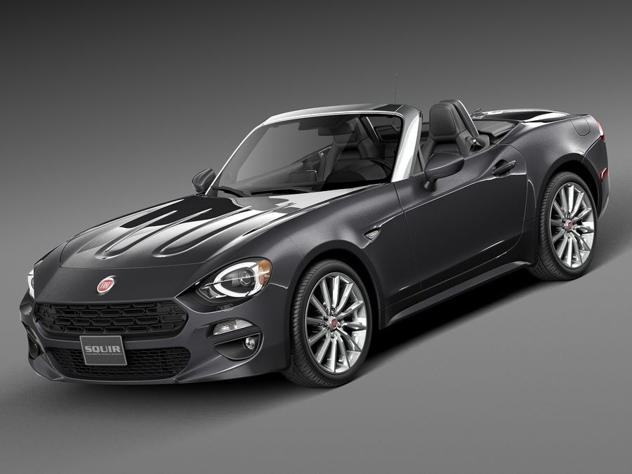 Fiat 124 Spider 2017 Royalty Free 3d Model   Preview No. 1