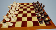 Wooden Chess Set 3d model