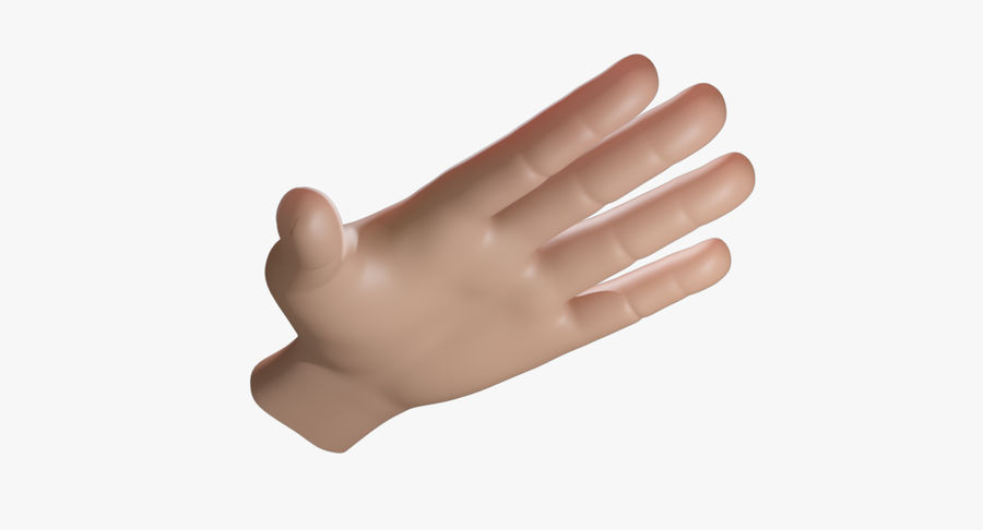 Cartoon Hand royalty-free 3d model - Preview no. 3