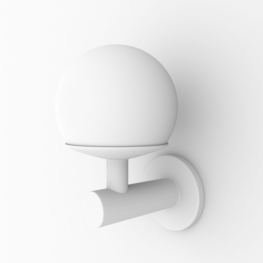 Wall Lamp, Sconce royalty-free 3d model - Preview no. 8