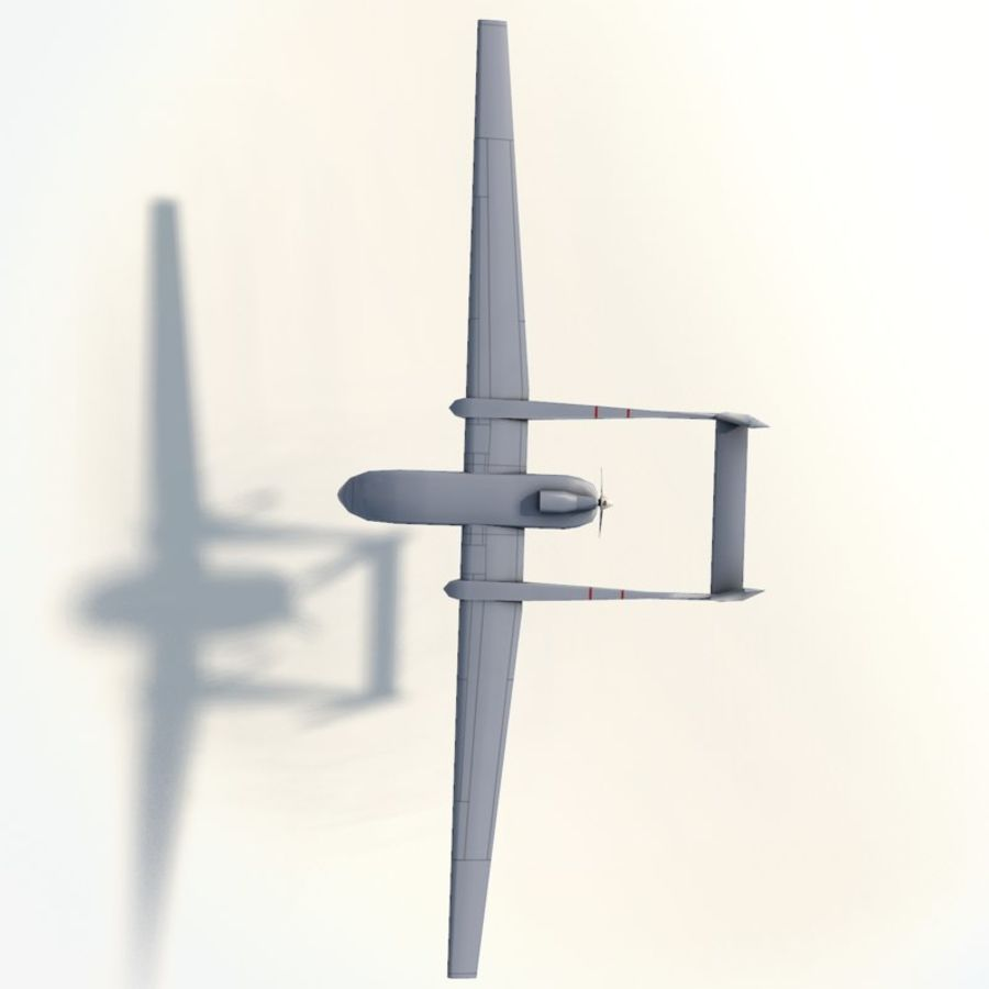 Fighter drone Heron-1 MDA royalty-free 3d model - Preview no. 8