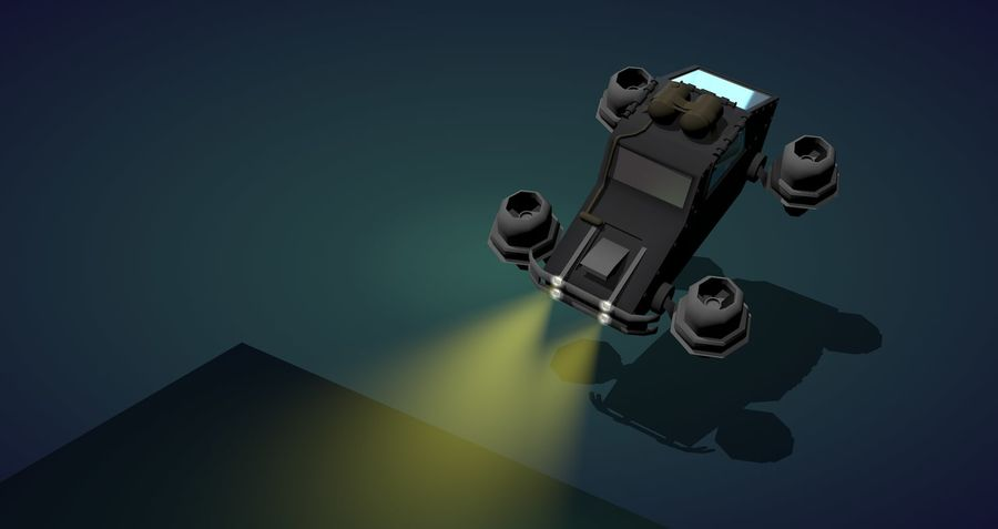 Fly Car royalty-free 3d model - Preview no. 3