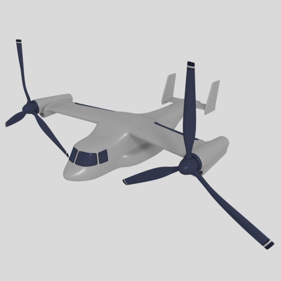 航空機_VTOL royalty-free 3d model - Preview no. 1