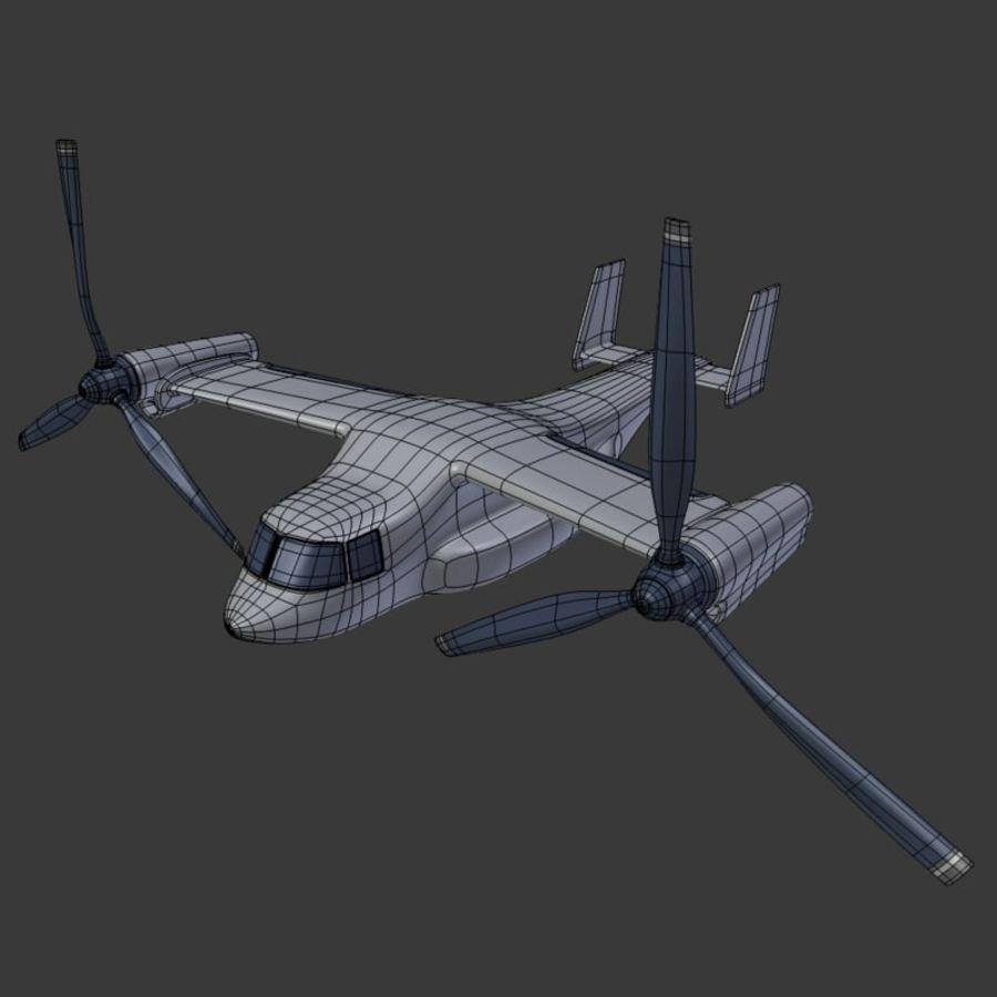 航空機_VTOL royalty-free 3d model - Preview no. 3