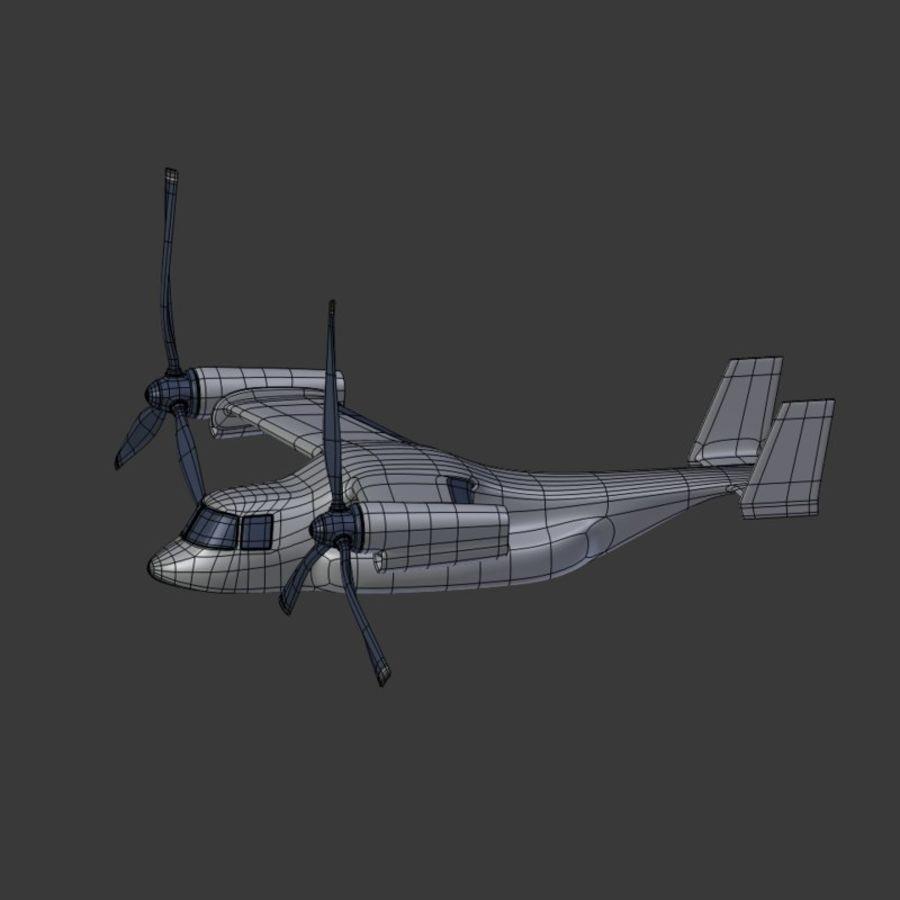 航空機_VTOL royalty-free 3d model - Preview no. 17