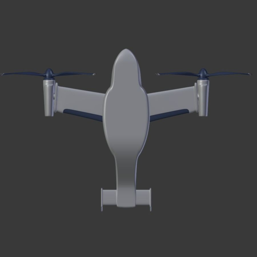 航空機_VTOL royalty-free 3d model - Preview no. 10