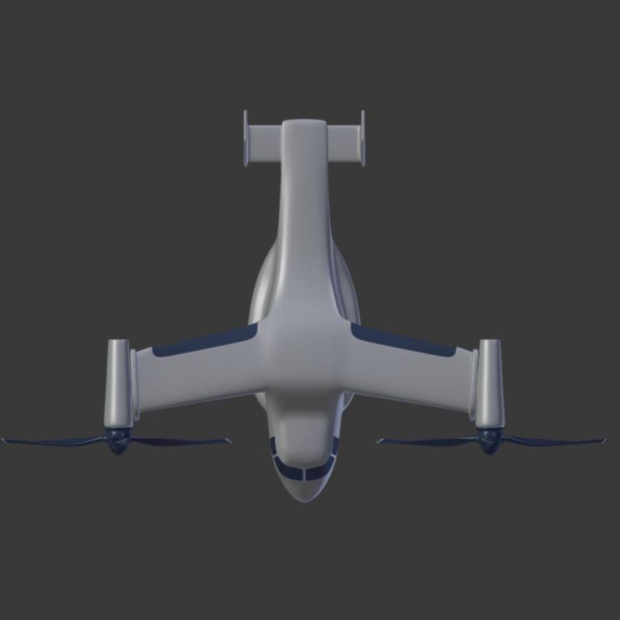 航空機_VTOL royalty-free 3d model - Preview no. 9