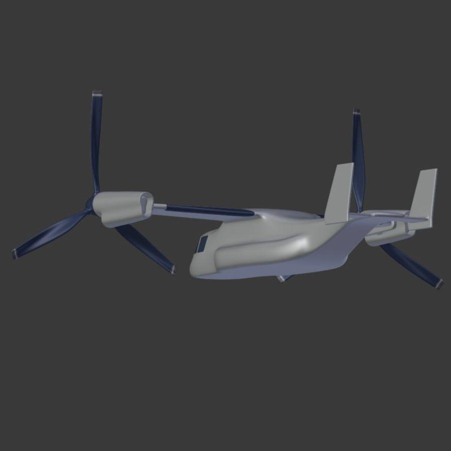 航空機_VTOL royalty-free 3d model - Preview no. 13