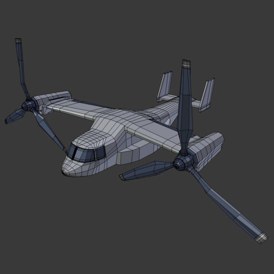 航空機_VTOL royalty-free 3d model - Preview no. 4