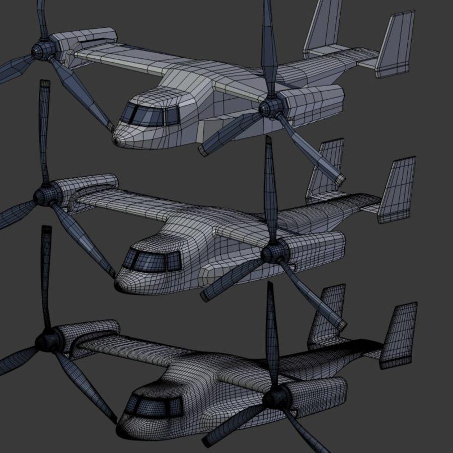 航空機_VTOL royalty-free 3d model - Preview no. 19