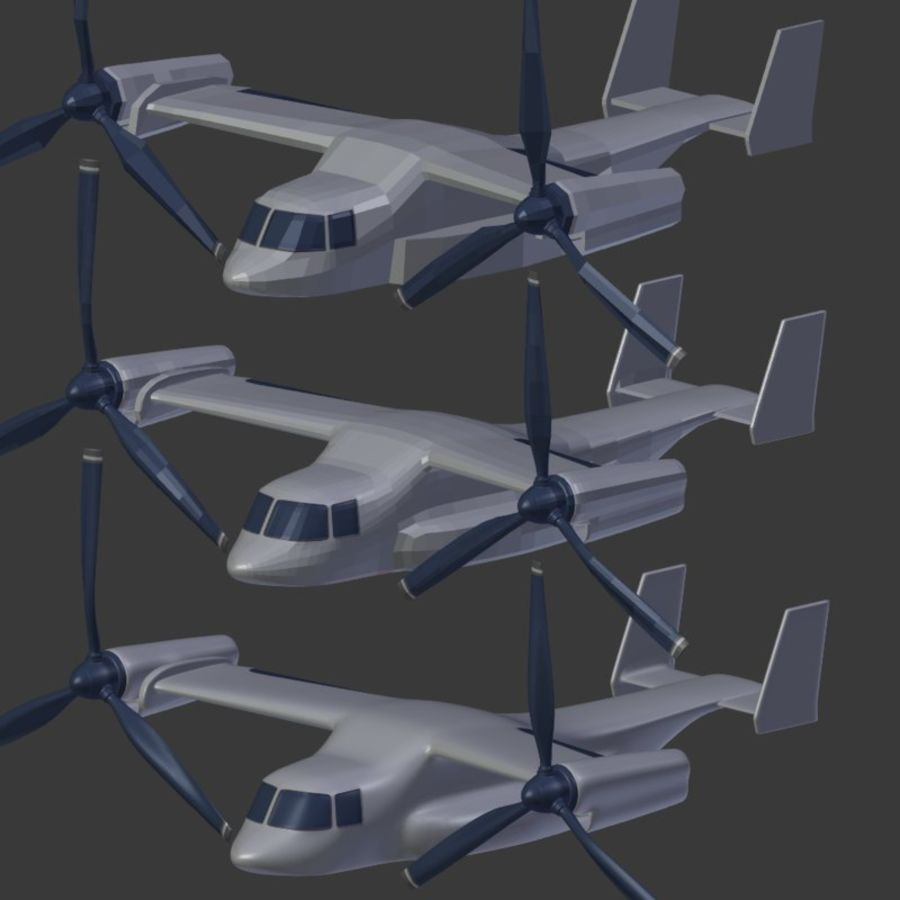 航空機_VTOL royalty-free 3d model - Preview no. 18