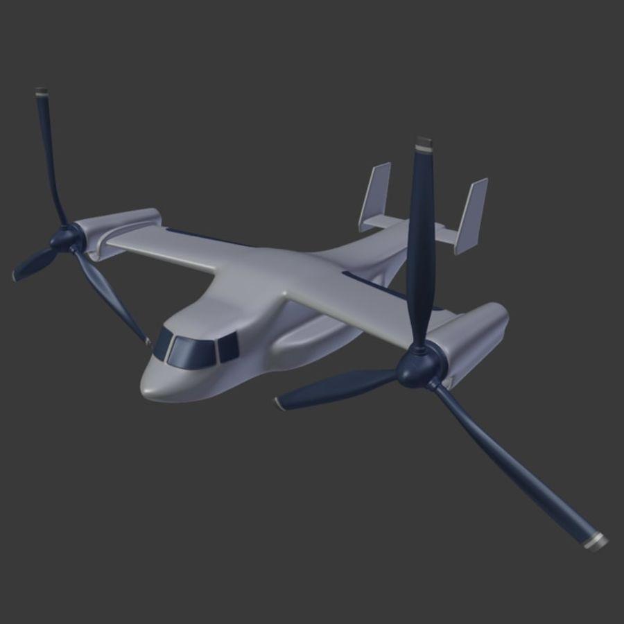 航空機_VTOL royalty-free 3d model - Preview no. 2