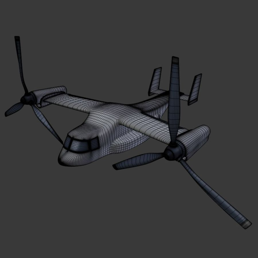 航空機_VTOL royalty-free 3d model - Preview no. 6