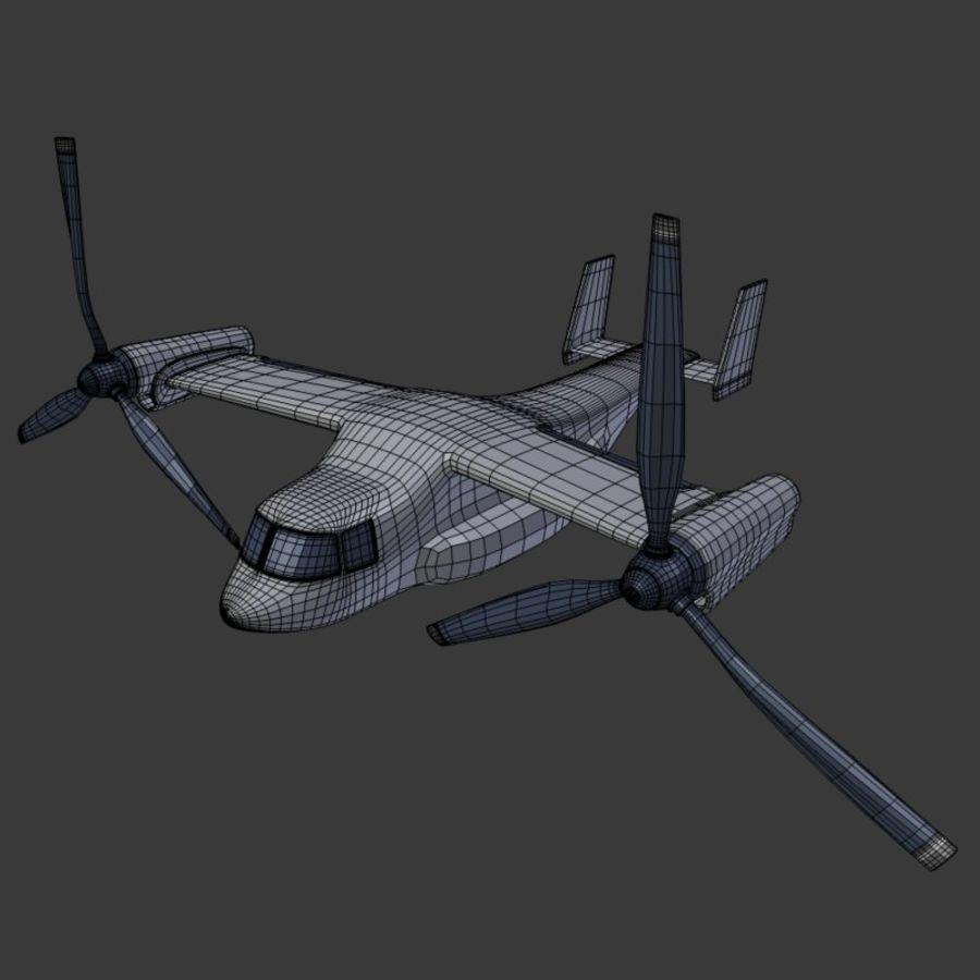 航空機_VTOL royalty-free 3d model - Preview no. 5