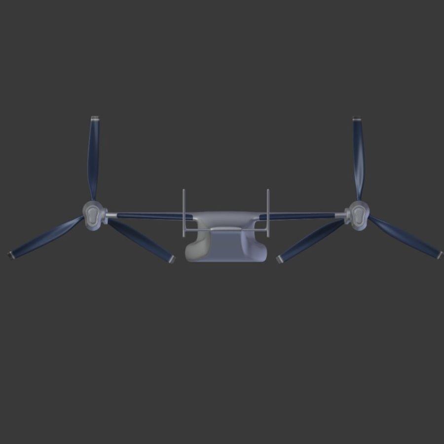 航空機_VTOL royalty-free 3d model - Preview no. 11