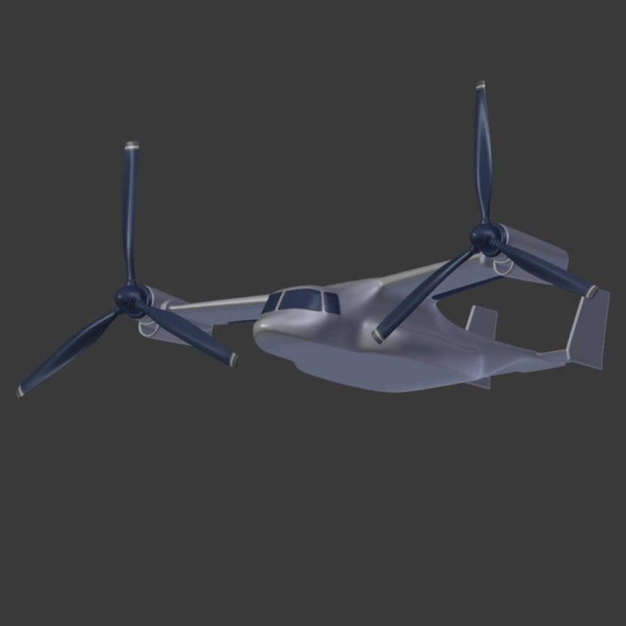 航空機_VTOL royalty-free 3d model - Preview no. 12