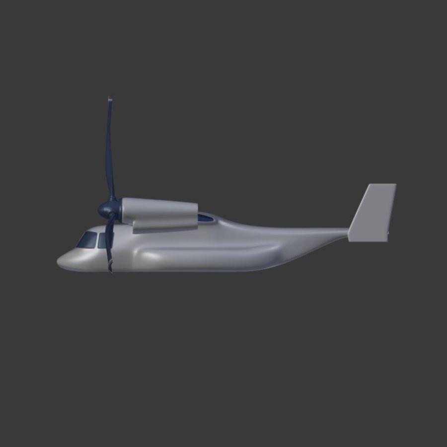 航空機_VTOL royalty-free 3d model - Preview no. 7