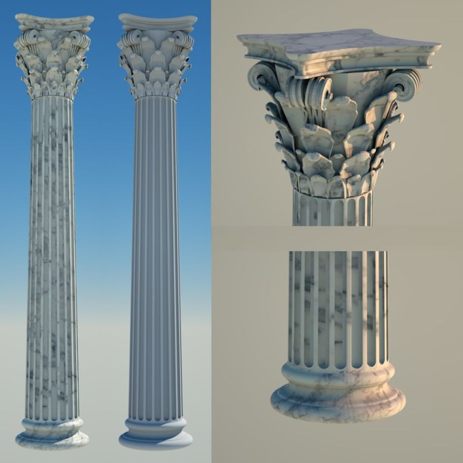 corinthian column 8 royalty free 3d model preview no 1