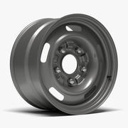 60s GM Rally Wheel 3d model