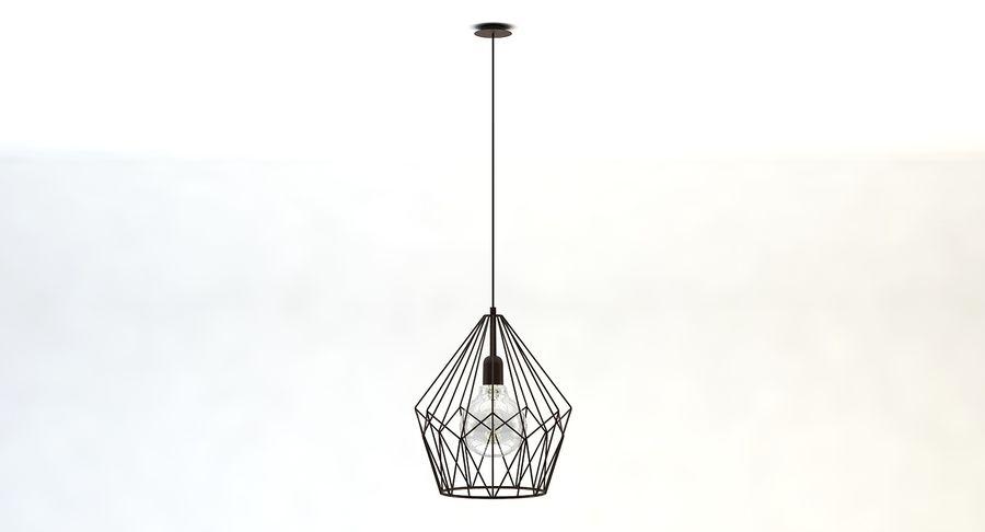 Carlton vintage lamp royalty-free 3d model - Preview no. 2