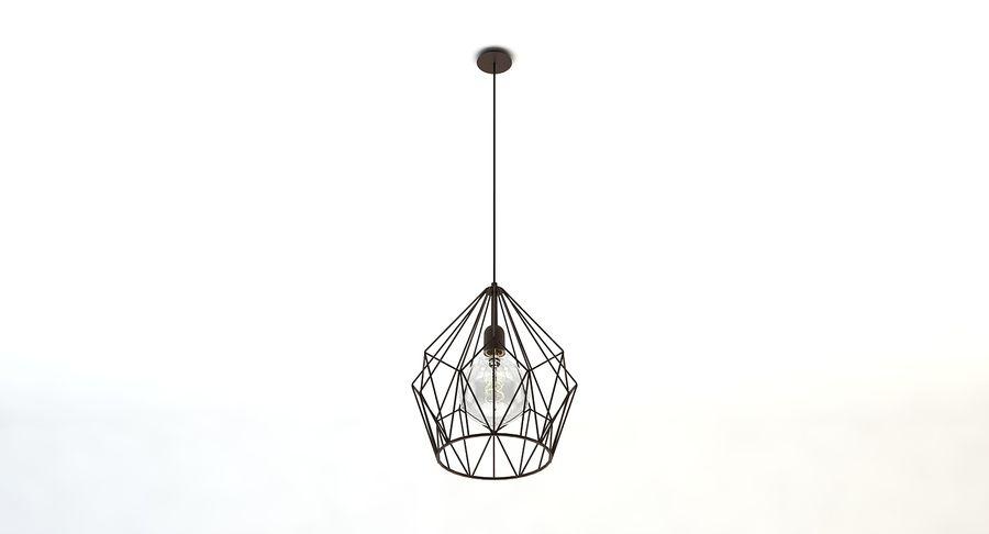 Carlton vintage lamp royalty-free 3d model - Preview no. 3