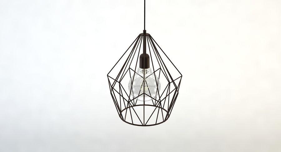 Carlton vintage lamp royalty-free 3d model - Preview no. 4