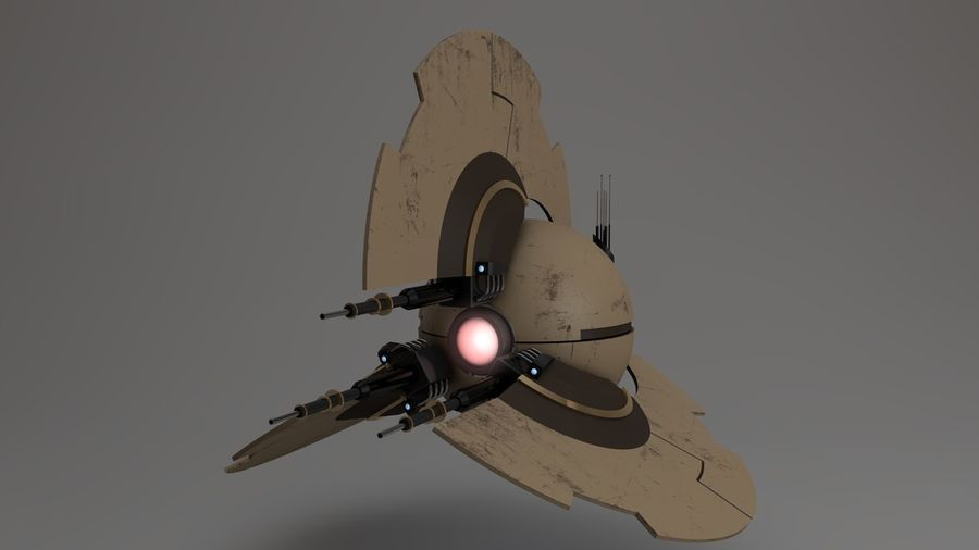 Sci-Fi Drone n2 royalty-free 3d model - Preview no. 14
