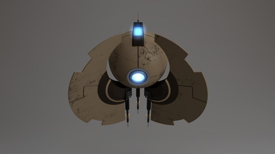 Sci-Fi Drone n2 royalty-free 3d model - Preview no. 11