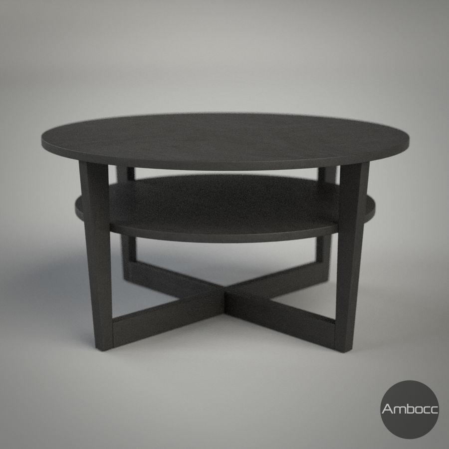 Ikea Inspired Vejmon Coffee Table Birch Veneer 90x47cm Royalty Free 3d Model