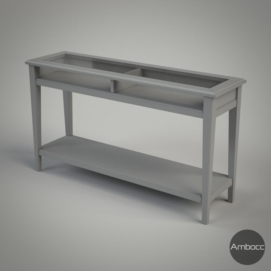 IKEA LIATORP Sofa Table, Gray U0026 White, Glass   133x37x75cm 3d Model