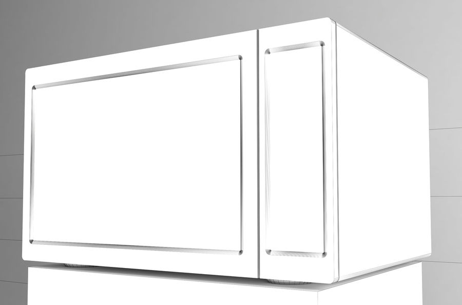 Microwave royalty-free 3d model - Preview no. 5
