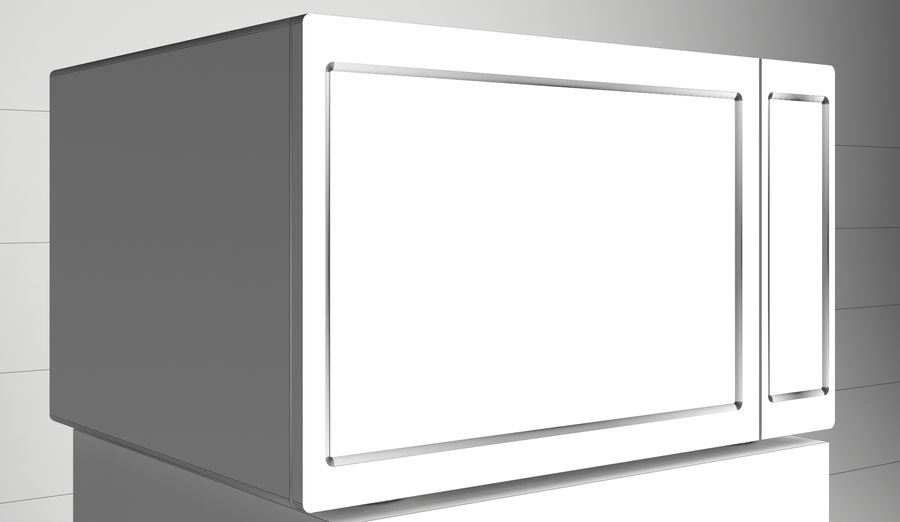 Microwave royalty-free 3d model - Preview no. 3